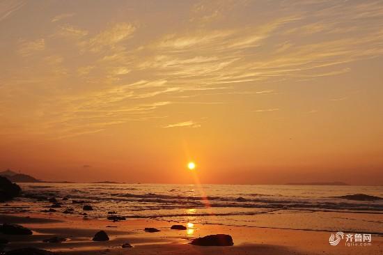 青岛西海岸石雀滩海滨美景